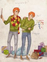 The Weasley Twins by Grumpy-O-Sheep