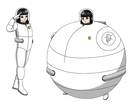 Sera Inamaski in her white moon space suit by Magic-Kristina-KW