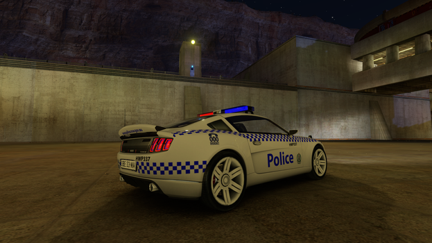 Trackmania 2 Canyon NSW Police (HWP) Rear by gurb337