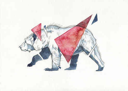 Bear with triangles by wolf-minori
