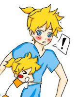 Len and chibi Len by trickortreat05