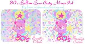 80's Balloon Bear Party by SweetiexCakes
