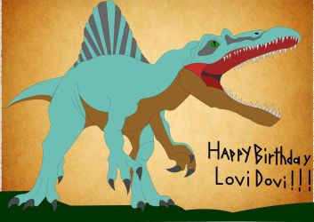 Happy Birthday LoviDovi! by Mechagodzilla604