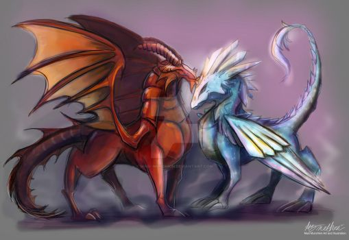 Commission Copper And Crystal Dragon by Mad--Munchkin