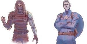 Winter Soldier And Captain America by xCandySlice