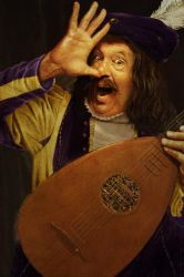 Happy lute player by JasperHolland
