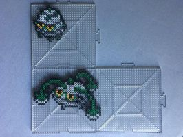 #597-#598 Ferroseed and Ferrothorn Perlers