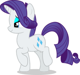 Mlp Fim Rarity (happy) vector #6 by luckreza8