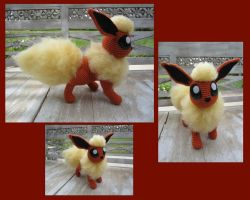 Crocheted Flareon Multi-views by aphid777