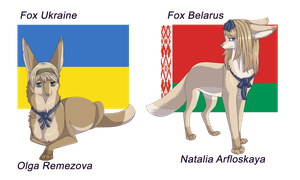 Foxs Ukraine and Belarus by ReizaSergal