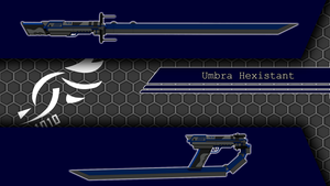 'Umbra Hexistant' - RWBY OC Weapon (Commission) by DenalCC1010