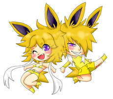 Jolteon Transparent by DreamySheepStudios
