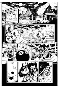 Wolverine - Bar Fight Scene page 1 by HenrikJonsson