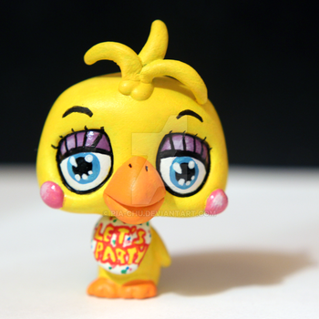 Toy Chica from FNAF2 inspired LPS custom by pia-chu