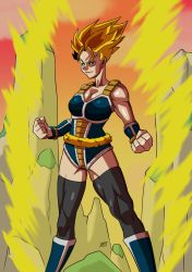 Commission: Female super saiyan by KukuruyoArt