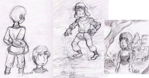 Sketch-Dump  March  2014 by Blue-Aqua-san95