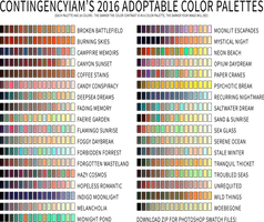 2016 Adoptable Palettes by Contingencyiam