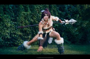 Nidalee Cosplay: Claw or spear! by MowkyCosplay
