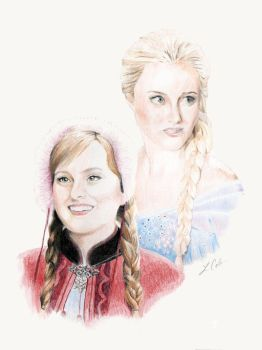 OUAT: Anna and Elsa by LMColver