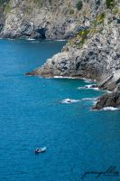 Cinque Terre Cliff Side and Boat by J525
