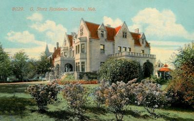 Vintage Nebraska - Storz Beer Mansion, Omaha by Yesterdays-Paper