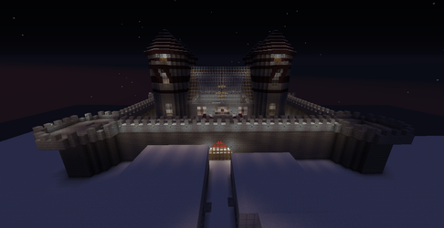 Minecraft Castle in the Snow Update 2 by seth243