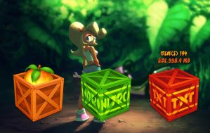 Crash Bandicoot Boxes Trash for xwidget by Jimking