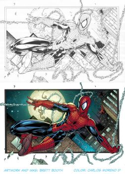 The Amazing Spider-Man (Process) by CarlosMorenoD-Art