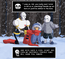 Undertale - Bundle Up (redraw) by TC-96
