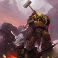 Dorn and  defeated heretic by ancientfear