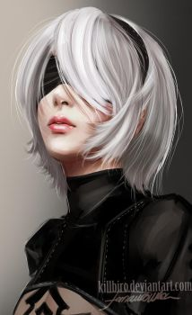 2B NIER AUTOMATA portrait by killbiro