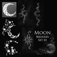 Moon Brushes by Nephan