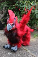 Red Griffin Art Doll by Creature-Cave