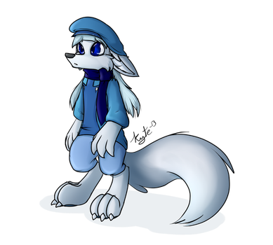 Winter Theme Beret Outfit by KyteTheFox