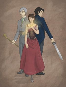 Will, Jem and Tess by Leenieh