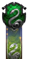 Pottermore Slytherin Bookmark by CharmazingMe