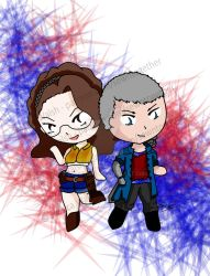 Devil May Cry 5 Chibies by snowtigra