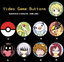 Video Game Buttons - Etsy Special by lordzasz
