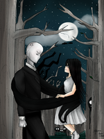 Slender meets Alice by hannamaia