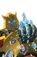 Transformers RID #9 cover colors by khaamar