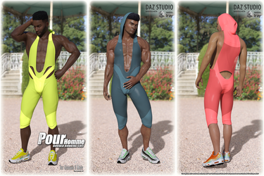 Pour Homme Expansion for Hooded Running Suit by Kaos3d