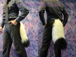 White Fox Tail with a Black Tip by Beetlecat