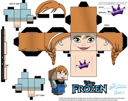 Anna From Disney's Frozen cubeecraft Template P1 by SKGaleana