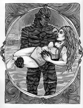 Creature from the Black Lagoon, Alernate by MirriamElin