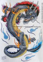 Dragon tattoo design by TheKarelia
