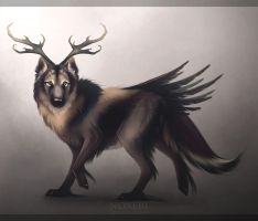 Horned wolf. by Noxeri