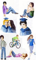Drawings for a school project by sofoolkate
