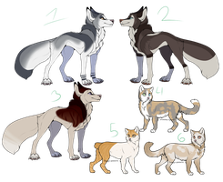 Cats and Dogs Adopts (OTA, Open) by Sneakysniper11