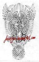 Celtic Phoenixes shaded by Feivelyn