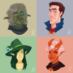 Yawning Portal: Party Portraits by Quackamos